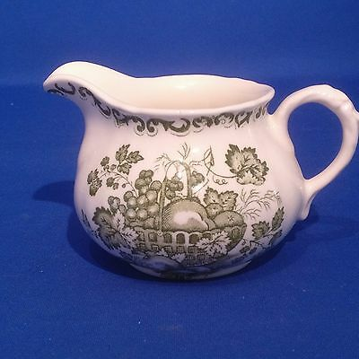 Vintage JOHNSON BROS Masons Fruit Basket GREEN - MILK JUG / CREAMER - Exc