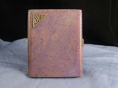 French Shagreen Art Deco Antique Vintage Cigarette Card Case Pocket Box