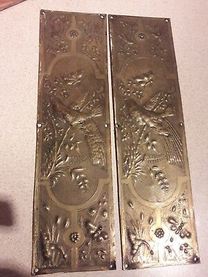 Antique Aesthetic Movement Brass Door Fingerplates1860-1900