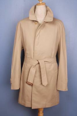 Superb Mens BURBERRY Single Breasted TRENCH Coat Mac Beige 46/48