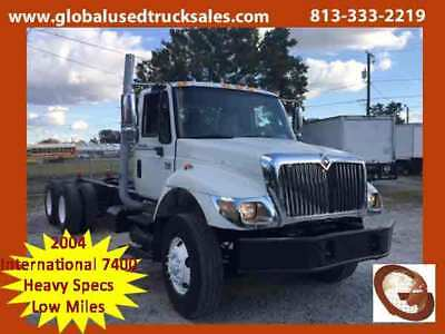 2004 International 7400 Tandem Axle Cab and Chassis Used Truck, Tampa, FL
