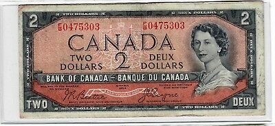 Canada 2 Dollars 1954 'Devils Face' variety pick-p67b Fine