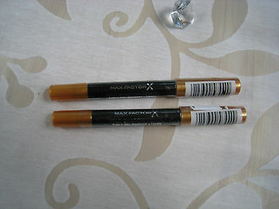 2xMax Factor X Wild Shadow Pencil 2in1 Shadow+Liner Fb. 40 goldfb. NEU OVP