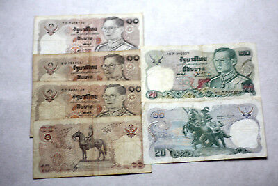 4x10+2x20 Baht,Bank of Thailand.