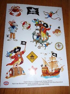 Capt'n Sharky Sticker Dr. Oetker Stickerkarte