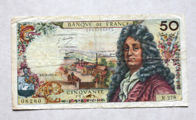 50 Francs, Bank of France, 1975.
