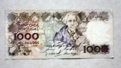 1000 Escudos, Bank of Portugal, 1989.