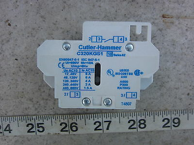 Cutler Hammer C320KGS1 NO Auxiliary Contact Block, New