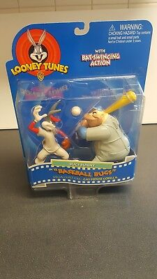 "Looney Tunes Bugs Bunny & Gas-House Gorilla in ""Baseball Bugs"" PLAYMATES NIB"
