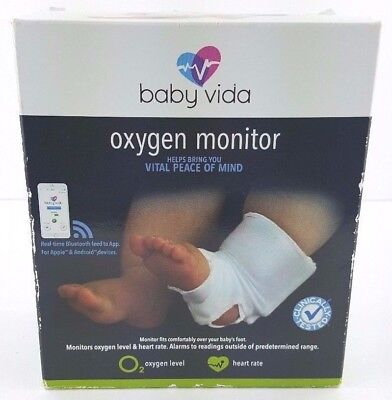 Baby Vida Oxygen Level Heart Rate Monitor 0-12 Months Bluetooth New