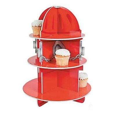 Fire Fireman Party Cupcake Stand Holder Hydrant Centre Piece