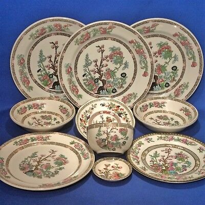 Vintage INDIAN TREE 10 Mixed Pieces - Plates, Bowls - WEDGWOOD / DOULTON etc