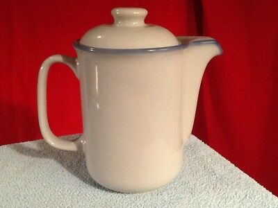 Vintage Tulowice Pottery air brushed Blue Grey Teapot/Coffee Pot Poland RARE