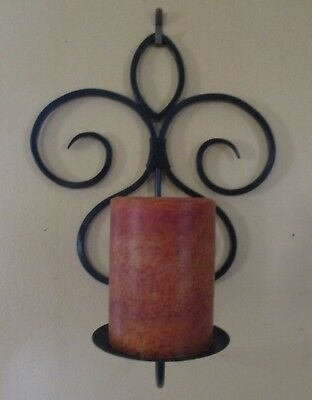 Pair of Wrought Iron Candle Sconces