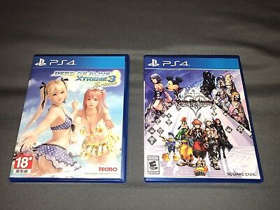 PS4 Games Dead Or Alive Xtreme 3 Fortune And Kingdom Hearts 2.8 Lot of 2