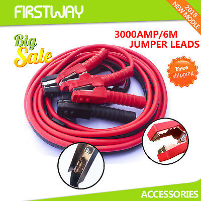Autofonder 3000AMP Jumper Lead Heavy Duty 6M Surge Protected Car Booster Cables