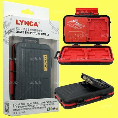 LYNCA 2-in-1 Memory Card Storage Case & USB 2.0 CF SD TF MicroSD OTG Card Reader