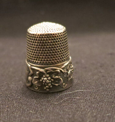Sterling Silver Thimble - grapes