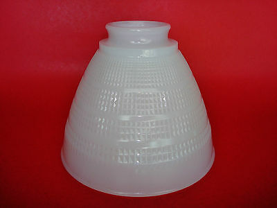 "Vintage Milk Glass Art-Deco Lamp Shade Globe Diffuser Torchiere 2 1/4"" Fitter"