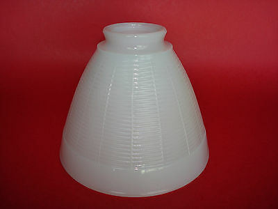 "Vintage Milk Glass Art-Deco Lamp Shade Globe Diffuser Torchiere - 2 1/4"" Fitter"