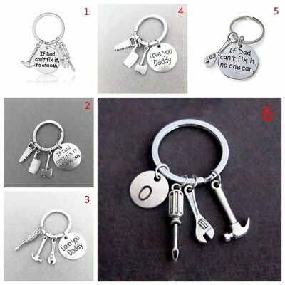 If Dad Can't Fix it No One Can Hand Tools Keychain for Dad Daddy Keyring Gift