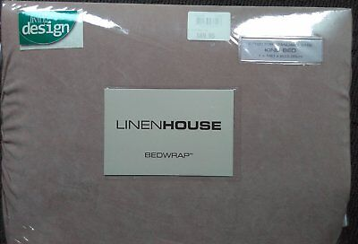Linen House Stretch Over Valance | Bed Wrap - King Bed