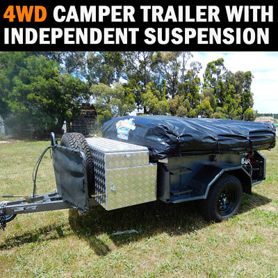 NEW 4WD Camper Trailer Fold Off Road Independent Suspension Camping Campers