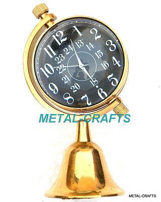 Antique Table Desktop Brass Watch - Vintage Victorian Brass Clock Tabletop Gifts