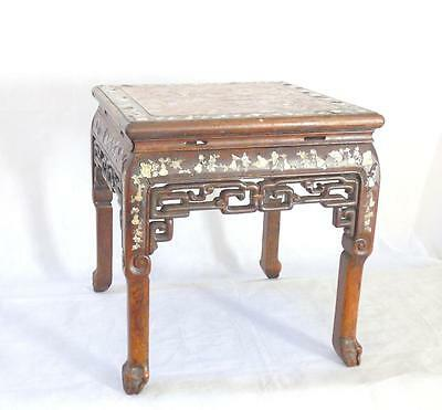 Chinese 19thC Qing Dynasty Mother of Pearl Table