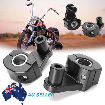 2x 7/8'' 22mm Motorcycle HandleBar Handle Fat Bar Mount Clamps Riser Universal