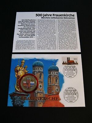 "Numisbrief  Uganda  1.000 Shillings  1994  ""Frauenkirche""  in Farbe  PP"