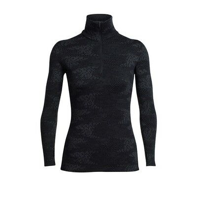 Icebreaker - Vertex LS Half Zip Flurry Woman - black/Jet hthr