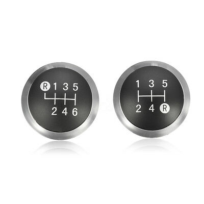 5/6 speed Gear Shift Knob Chrome Cap Top Insert For Toyota Avensis 33624-09010