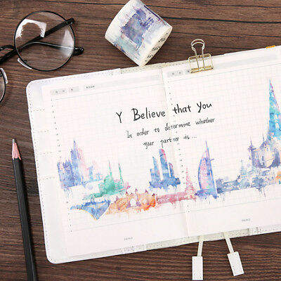 Watercolor World Travel Country Architecture Washi Masking Tapes Paper Collage