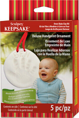 Sculpey Keepsake - Deluxe Handprint Ornament - Oven Bake Clay Kit - FAST 'N FREE