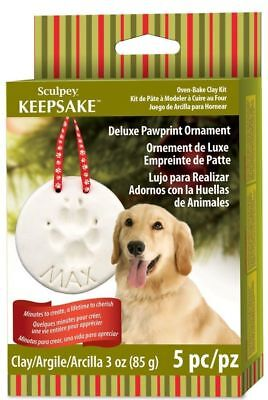 Sculpey Keepsake - Deluxe Pawprint Ornament - Oven Bake Clay Kit - FAST 'N FREE