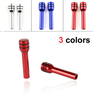 2Pcs*Aluminum Alloy Car/Truck Interior Door Locking Lock Knob Pull Pins Cover