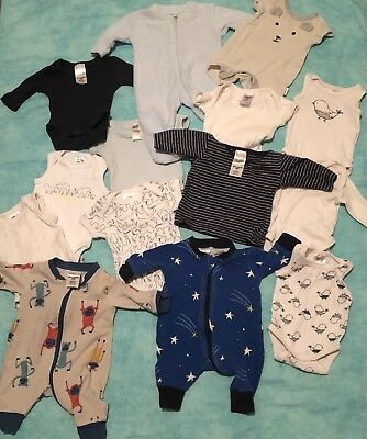 Small Newborn 00000 Clothing Bundle 14 Items