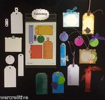 "Cuttlebug ""TAGS"" 13.5cm x 19cm Embossing Plus Folder  NEW -w/w Sizzix machines"