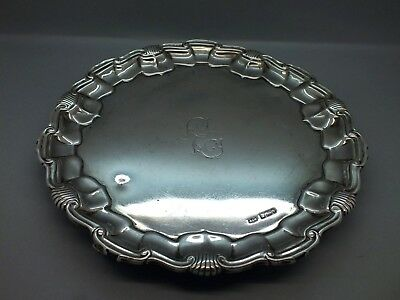 Early 20th C Art Nouveau Solid Silver Visiting Card Tray by Mappin & Webb 1903