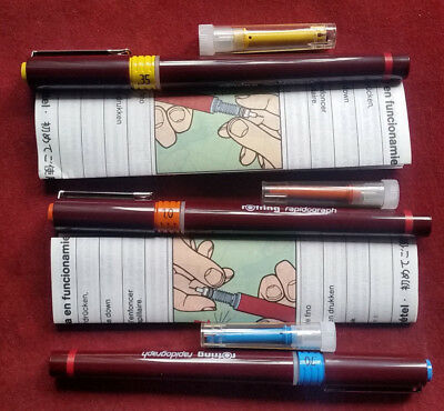 rotring rapidograph 0,35 mm, 0,70 mm und 1,00 mm
