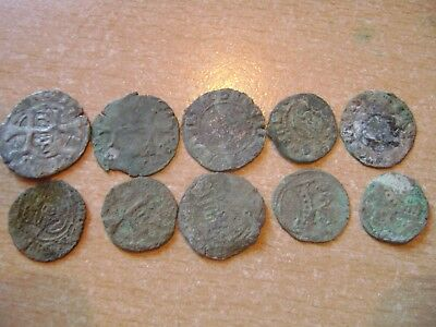 Medieval Middle Ages Coins Lot Of 10 Pieces