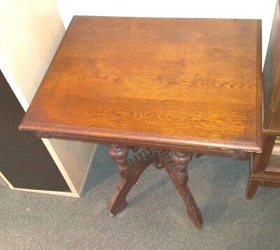 Antique Carved Victorian Eastlake Style Parlor/Side/Accent Table