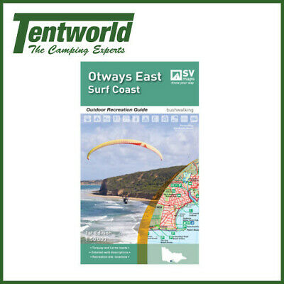 Spacial Vision Otways East Surfcoast Map Outdoor Recreation Guide