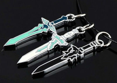 Anime Sword Art Online Asuna Kirito Cosplay Props Kazuto Sword Necklace SAO Gift