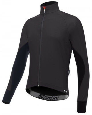 Santini SMS Beta Rain Bike Jacket Black 2018