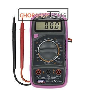 Sealey Digital Multimeter 8 Function with Thermocouple - Pink MM20P