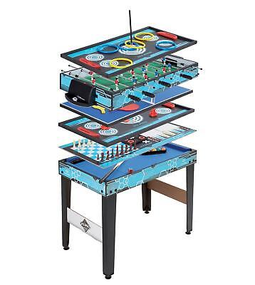 11 in 1 Games Table Wooden Pool Football Chess Tennis Air Hockey Xmas Toy  - NEW