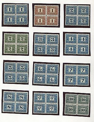 Canada Revenue Fps1-Fps22 Mint Blocks Of 4 Vf Scarce