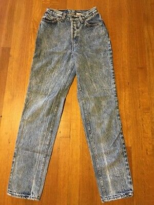 Vintage Levi's Acid Wash High-Rise Mom Jeans Women's Juniors' 5 USA Button Fly
